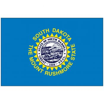 Outdoor South Dakota State Flag