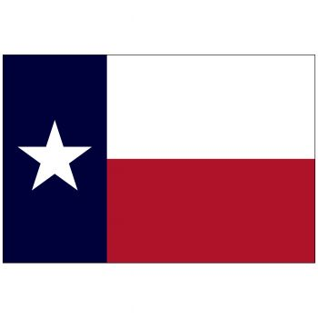Indoor Texas State Flag