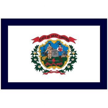 Outdoor West Virginia State Flag