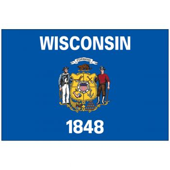 Outdoor Wisconsin State Flag