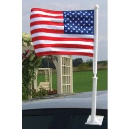 Car Window US Flag