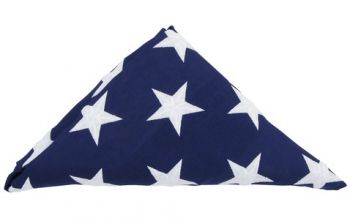 Prefolded Cotton Government Spec Casket Flag
