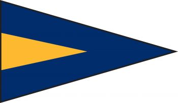 1st Repeater Code Flag With Grommet