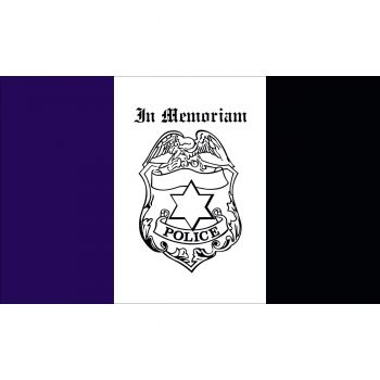 Outdoor Nylon Police Mourning Flag
