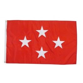 Outdoor US Marine Corps Four-Star General Flag