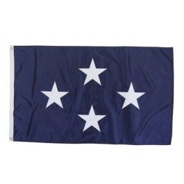 Outdoor US Navy 4 Star Admiral Flag