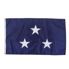 Outdoor US Navy 3 Star Admiral Flag