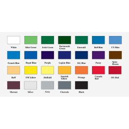 """12"""" x 18"""" Standard Solid Color Pennants"""