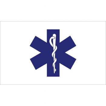Outdoor Nylon Star of Life Flag